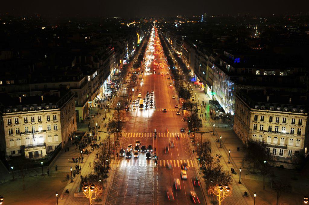 Champs Elysees Shopping Paris France