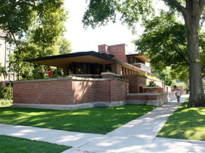 58th Street corner with Woodlawn Avenue, Robie House