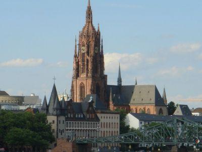 Downtown Churches Of Frankfurt Frankfurt Germany