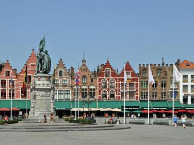 bruges self guided walking tour map
