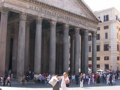 G. Rocca Cafe at Pantheon (Meeting Irving)