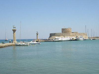 Mandraki Harbor Tour of Rhodes, Rhodes, Greece