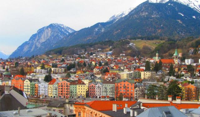 The Colorful Town of Innsbruck, Austria