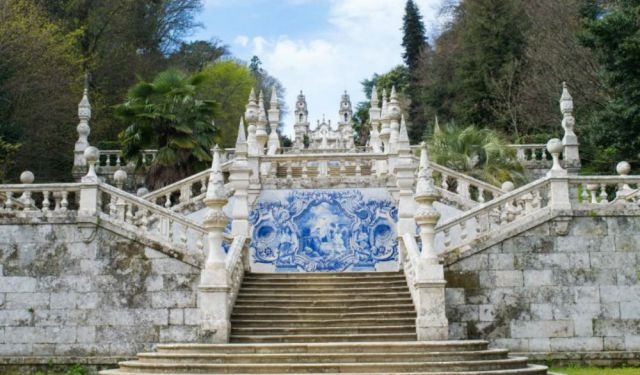 Climbing the Stairway to Heaven in Lamego, Portugal