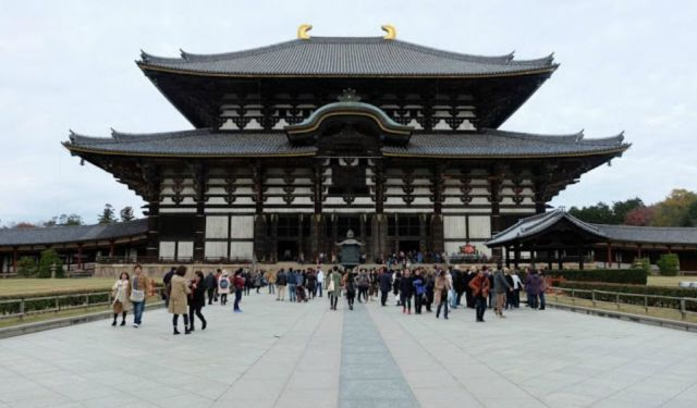 Todaiji, Yoshiki-en and Kofukuji in Nara Park