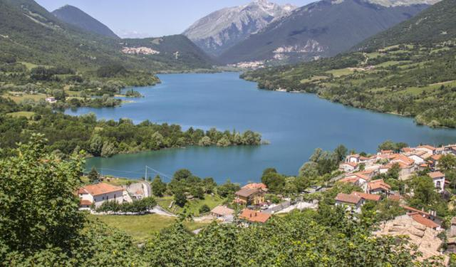 Barrea on Lake Barrea - An Italian Medieval Settlement