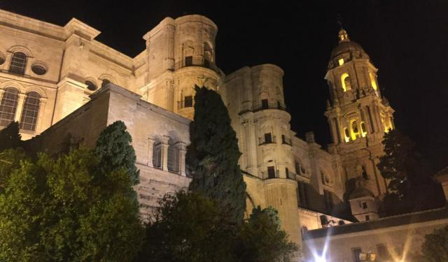 Malaga at Night and Return to Vineria Cervantes