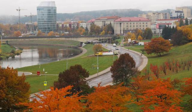 A Walk By the River Neris in Vilnius