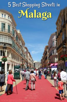 5 Best Shopping Streets in Malaga, Spain