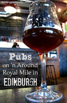 Pubs on 'n Around Royal Mile in Edinburgh