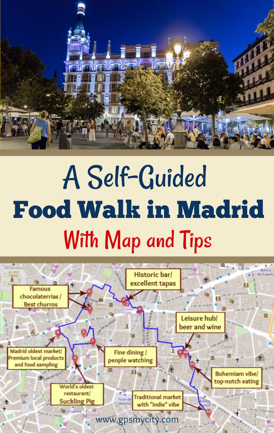 A Self-Guided Food Walk in Madrid on tour map beijing, tour map rome, tour map prague, tour map bangkok, tour map amsterdam, tour map edinburgh, tour map salzburg, tour map new york city, tour map san francisco, tour map boston, tour map lima, tour map london, tour map brussels,