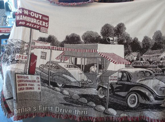 In N Out Burger Blanket