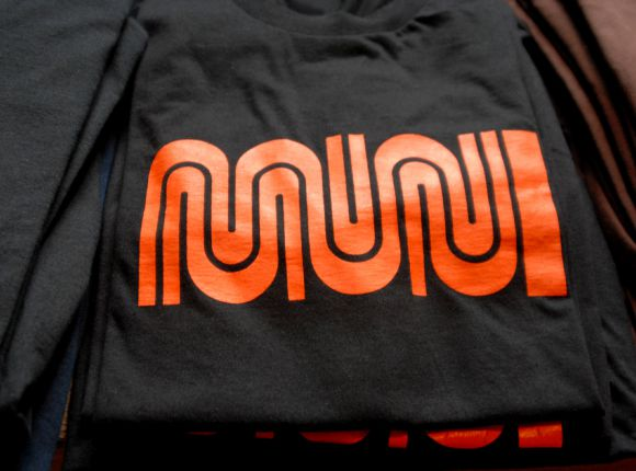 e9e71bf6 The Muni t-shirt company has based itself on the squiggled-line logo of San  Francisco's Muni transit system – the collection of buses, trolleys, ...