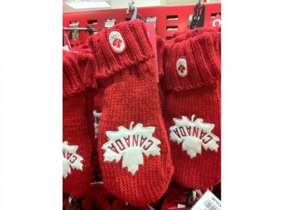 Canadian Olympic Team Red Mittens