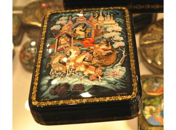 Palekh and Fedoskino Lacquer Boxes