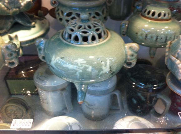 Korean Celadon Buddhist Incense Burner