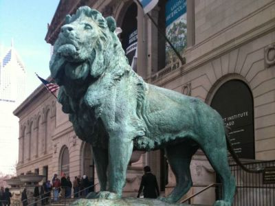 Art Institute Bronze Lions by Edward Kemeys