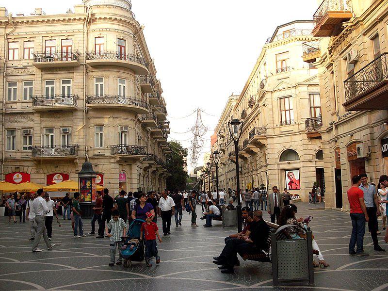 Nizami Street Area Shopping Baku Azerbaijan