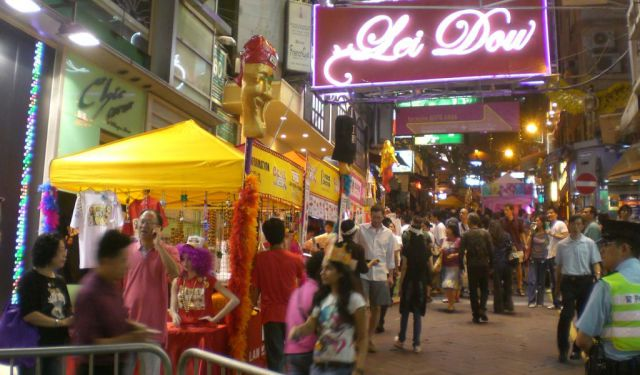 Nightlife in Central, Hong Kong
