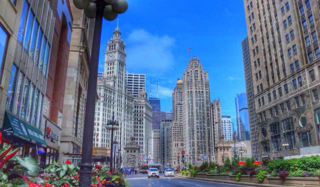 The Magnificent Mile Area Walk, Chicago
