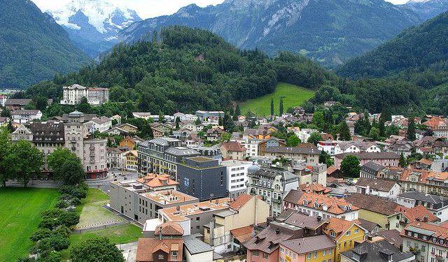 City Orientation Walk Interlaken Switzerland