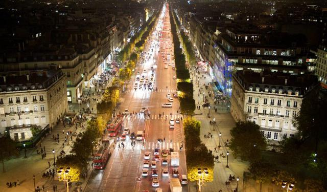 Champs-Elysees Nightlife, Paris