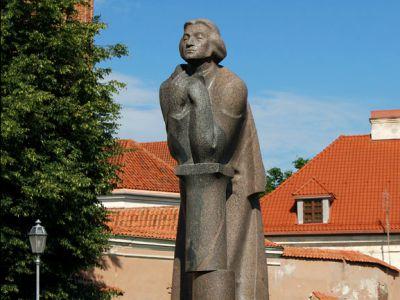 Monument To Adomas Mickeviius Vilnius