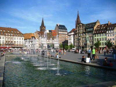 place strasbourg kleber famous walking tour kleber landmarks squares streets france guided self gpsmycity