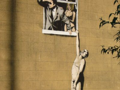 Banksy - Well Hung Lover, Bristol
