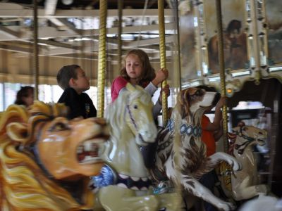 Carousel on Soviet Square, Yalta