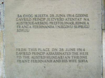 Sarajevo Assassination Memorial Plaque Sarajevo