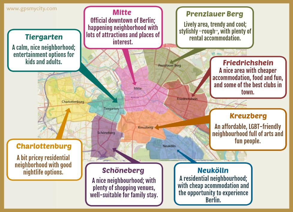 Where To Stay in Berlin - Guide of Best Areas - GPSmyCity